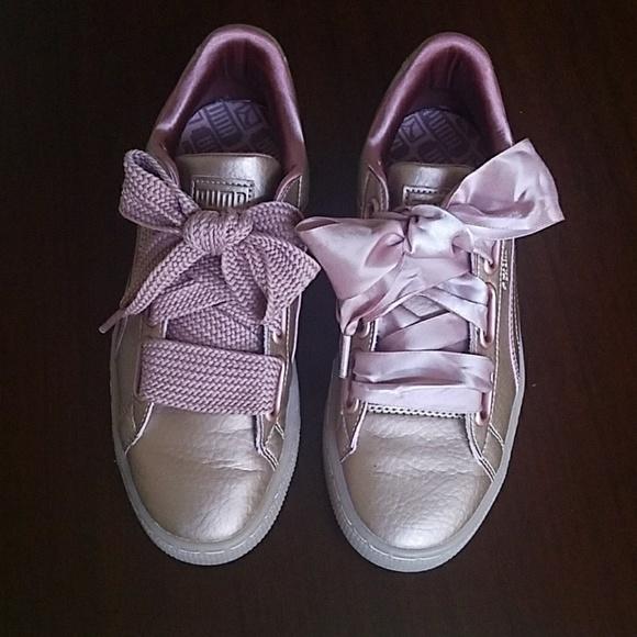 e9e6dab42354 Puma Basket Heart Rose Gold/Copper Rose Sneakers. M_5a9731199cc7efedb631dcdf